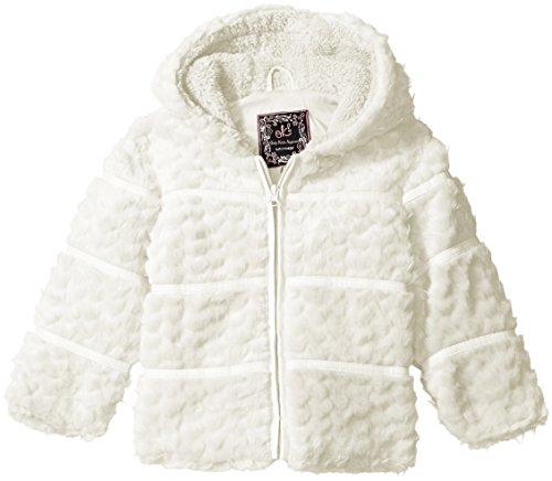 1001b402b Fleece – Ok Kids! Baby Girls' Heart Quilt Jacket with Faux Fur Trim Hood,  Ivory, 18 Months Offers