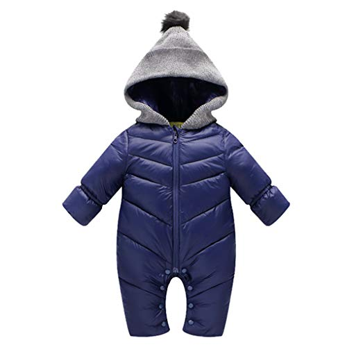 02680cbac Snow Wear – Uobzyaq Baby Boys Girls Hooded One-Piece Puffer Winter Down  Snowsuit Jumpsuit Overcoat Navy Size L (12-18 Months) Offers
