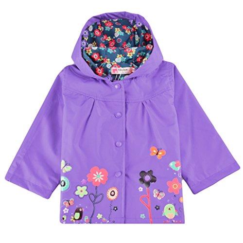 3373259fb1cd Rain Wear – Cute Kids Girls Raincoat ,Flower Hooded Long Sleeve Waterproof  Raincoat Jacket Outwear Tops Offers