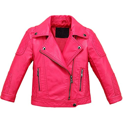 2b25d51be Jackets – LJYH Baby Boys Girls Fashion PU Leather Jacket Kids Zipper Coat  Rose Red