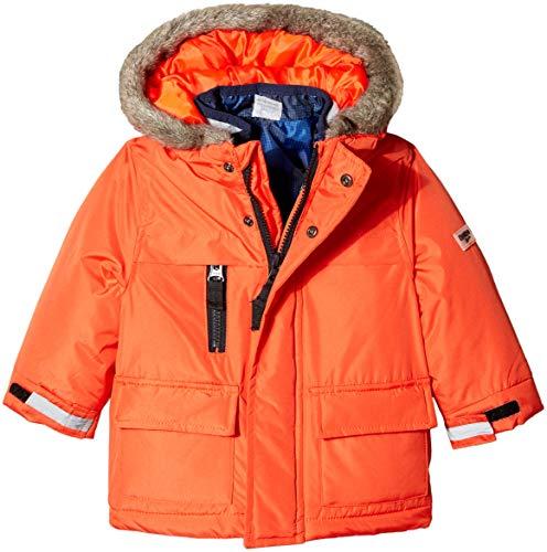 b6e57cb7cda71 Down & Down Alternative – Osh Kosh Baby Boys 4-in-1 Heavyweight Systems Jacket  Coat, Orange/Blue Print, 12M