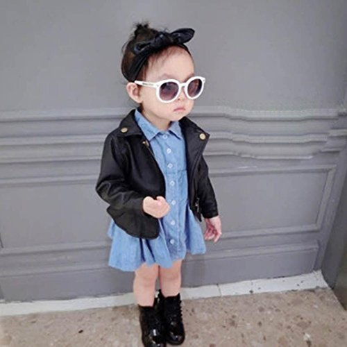 49efee147 Jackets – Yoyorule Baby Kids Infant PU Leather Jacket Zipper Hooded Outwear  Coats (12 Months, Black)