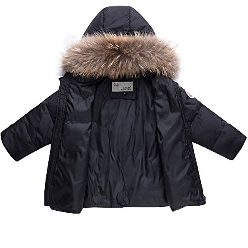 97c2f72ee Snow Wear – JELEUON Baby Girls and Boys Two Piece Winter Warm Hooded Fur  Trim Zipper Snowsuit Puffer Down Jacket with Snow Ski Bib Pants Outfits 3-4  Years ...
